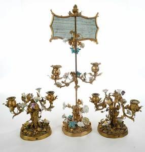 Louis XV Style Garniture Candelabra Set