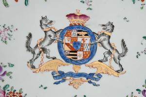Continental Porcelain Armorial Charger