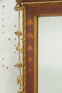 American Federal Style Inlaid Mahogany Mirror