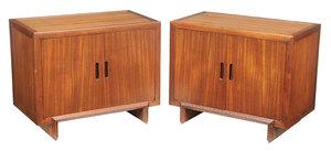 Pair Frank Lloyd Wright Designed Cabinets