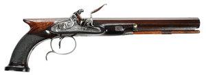 Fine Georgian W.A. Beckwith Flintlock Pistol