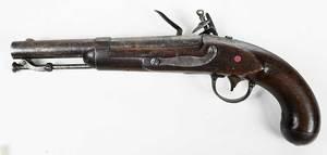 American Asa H. Waters Model 1836 Flintlock Pistol