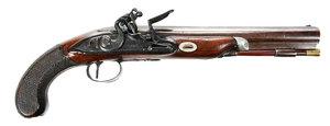 Georgian Clark Holborn Flintlock Pistol