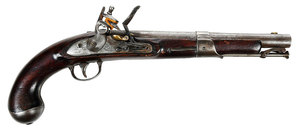 American 1822 Simeon North Flintlock Pistol