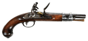 American Simeon North Flintlock Pistol