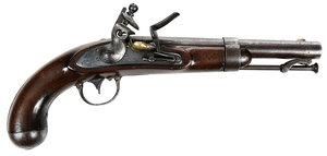 American Asa H. Waters Model 1836 Flintlock Pistol