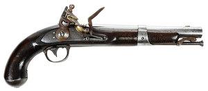 American Evans Model 1826 Navy Flintlock Pistol