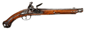 Antique Continental Flintlock Pistol