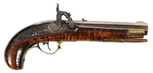 H and J Kirkman and Co. Percussion Pistol