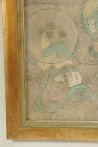 Early Chinese Fresco With Male Figures