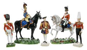 Dresden Porcelain Military Figures