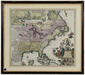 Matthias Seutter Map of North America