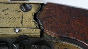 Three British Flintlock Pocket Pistols