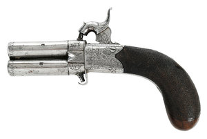 Egan Bradford Rotating Barrel Percussion Pistol