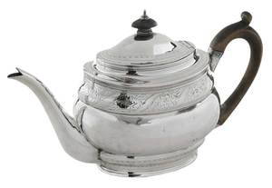 George III English Silver Tea Pot