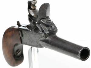 Two Flintlock Boot Pistols