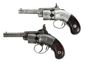 Two Allen's Percussion Pocket Pistols