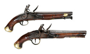 Two British Army Flintlock Pistols