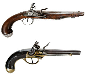 Two French Flintlock Pistols