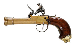 British Flintlock Cannon Barrel Pocket Pistol
