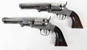 Two Civil War Era Manhattan Pocket Model Pistols