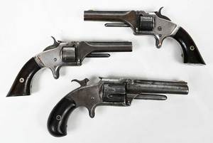 Three Smith and Wesson Model 1 Tip Up Pistols