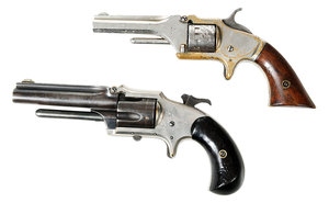 Two Rimfire Tip Up Pistols