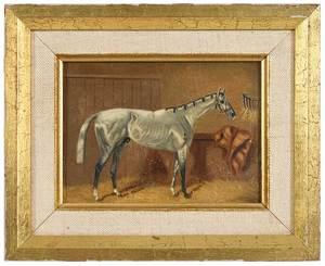 British School Equestrian Painting