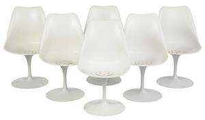 Set Six Tulip Side Chairs by Eero Saarinen