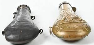 Two Civil War Era Colt Powder Flasks