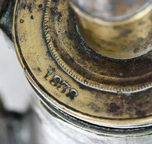 Pair Civil War Era Ames Powder Flasks