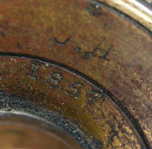 1857 Batty Peace Powder Flask