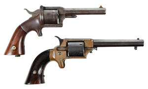 Two Spur Trigger Pistols Civil War Era