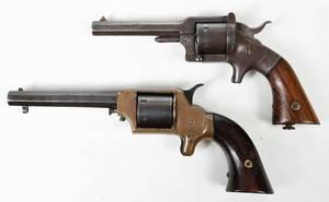 Two Spur Trigger Pistols Civil War Era