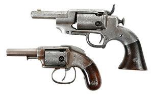 Two Allen and Wheelock Percussion Pistols