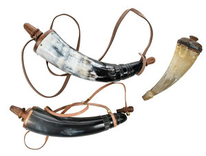 Three Colonial Style Powder Horns