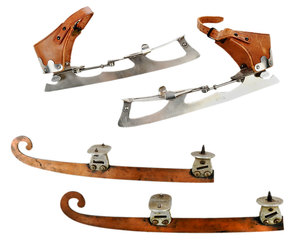 Two Pairs Steel Ice Skates