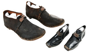 Two Pair Early Leather Shoes