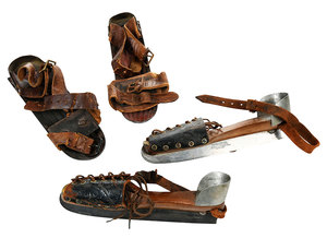 Two Pairs Signed Antique Ice Skates