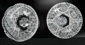 Two Cut Glass Compotes