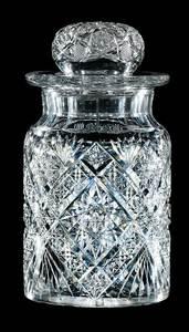 J. Hoare Cut Glass Humidor