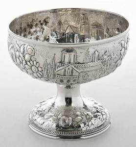 Kirk Coin Silver Footed Bowl