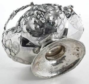 Coin Silver Basket