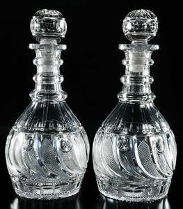 Pair Georgian Blown Decanters