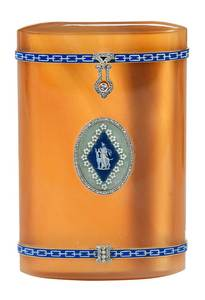 French 18kt., Diamond & Enamel Cigarette Case
