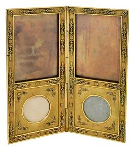 French Gilt Bronze Double Photograph Frame