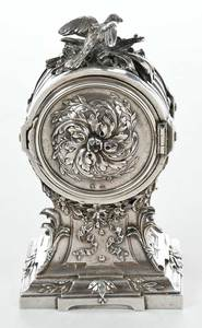 Aiguilles French Silver Cased Clock
