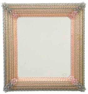 Venetian Pink and Pale Blue Frame Mirror
