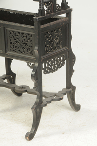 Carved and Ebonized Planter