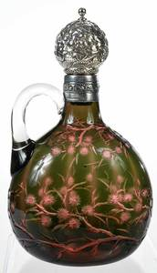 Rare Stevens and Williams Two Color Whiskey Jug